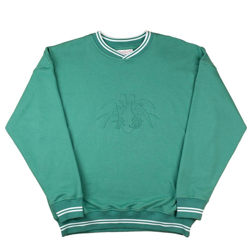 YARDSALE - YS EMBOSSED SWEATSHIRT - Fern Green