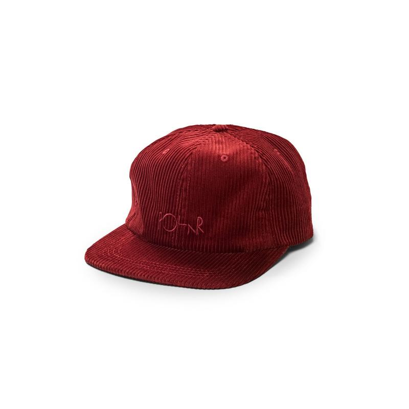 POLAR SKATE CO CORDUROY CAP - Red
