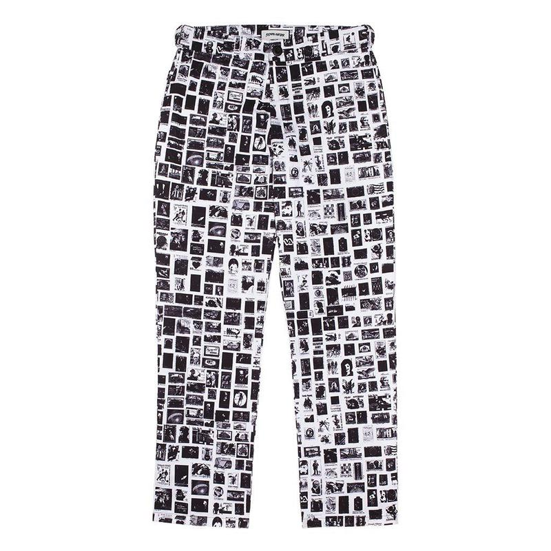FUCKING AWESOME Stamps Pants - White/Black