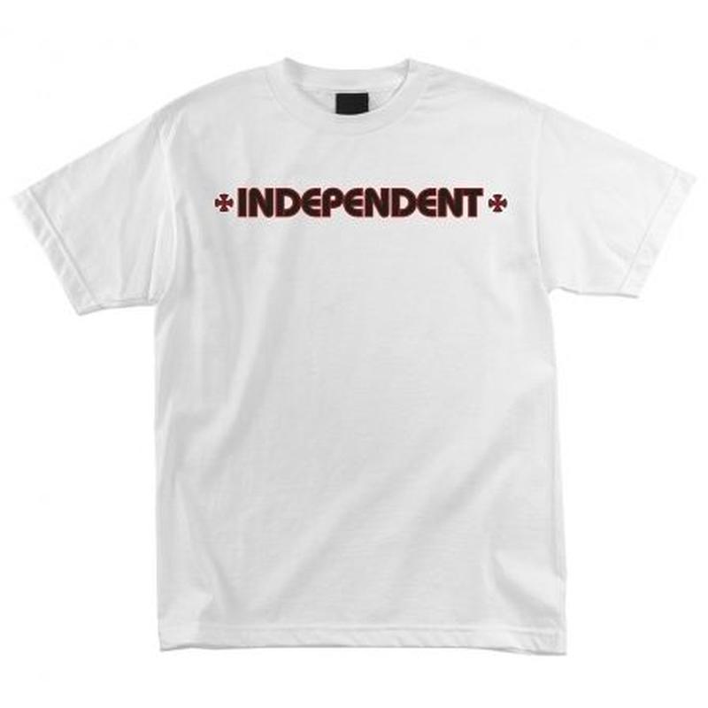 INDEPENDENT BAR CROSS S/S T SHIRT WHITE