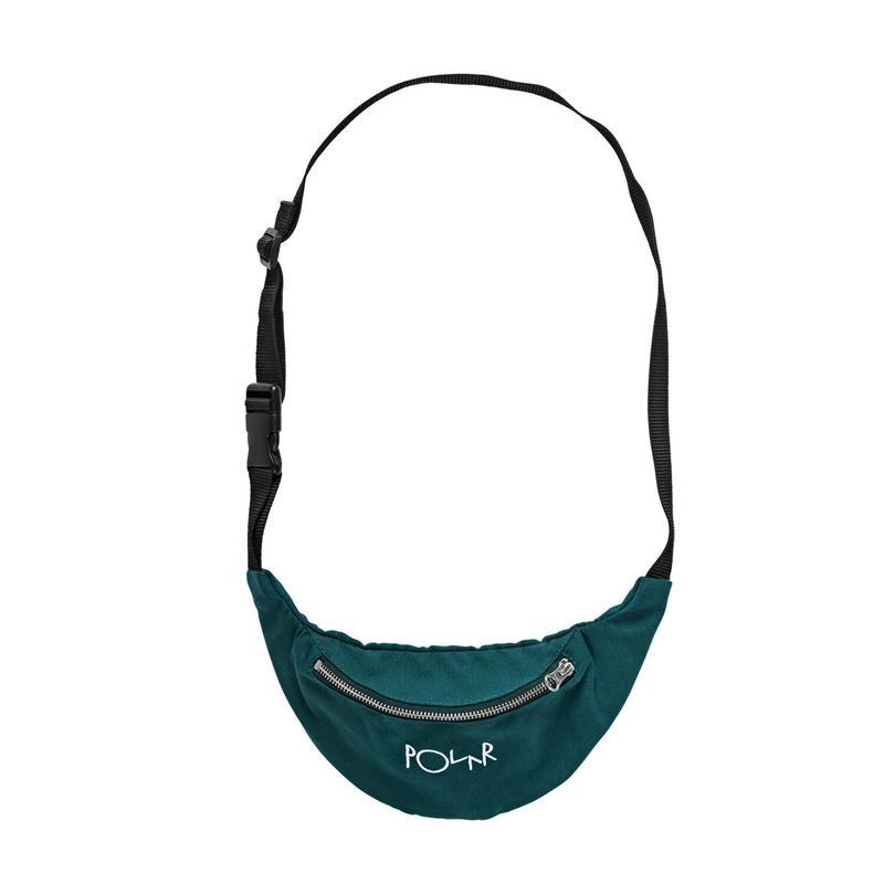 POLAR SKATE CO SCRIPT LOGO HIP BAG - Dark Green