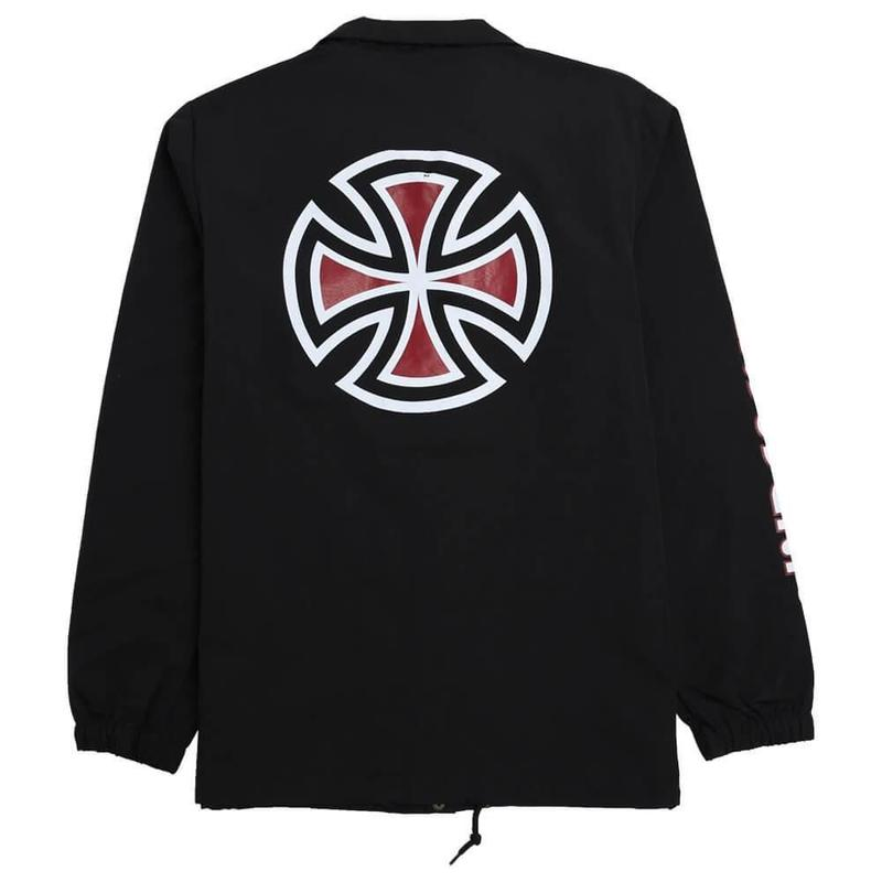 Independent Truck Co. BAR CROSS SLEEVE COACH JACKET BLACK