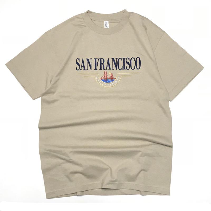 SAN FRANCISCO  SOUVENIR CALIFORNIA TEE - SAND