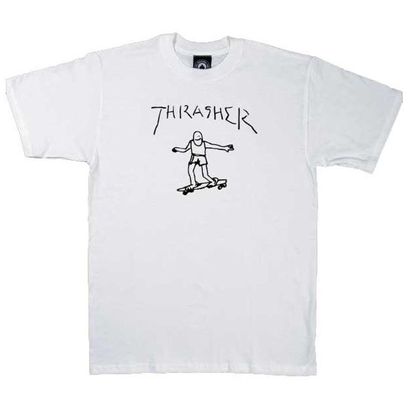 THRASHER  Gonz By Mark Gonzales Tee - White