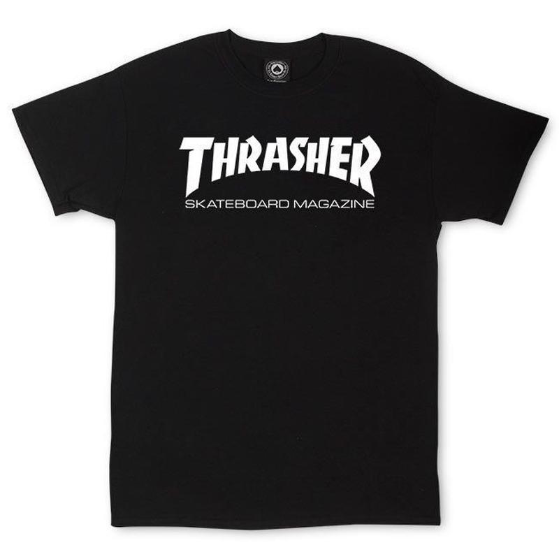 THRASHER SKATE MAG T SHIRTS - BLACK