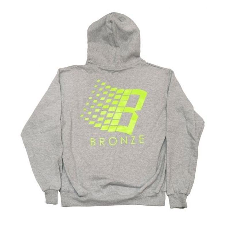 BRONZE56K  B HOODY - ROYAL GREY/LIME