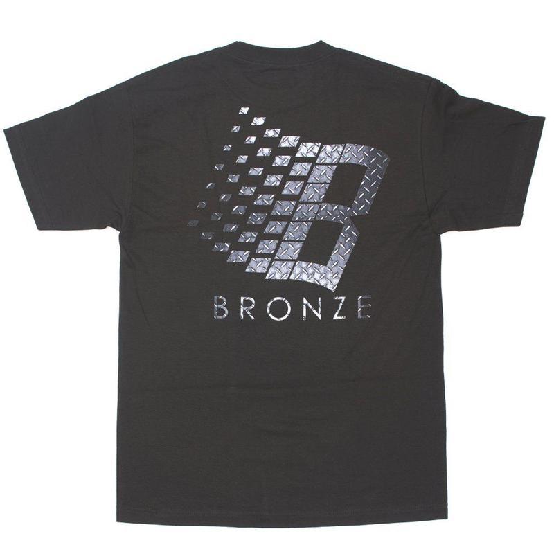 BRONZE56K B LOGO DIAMOND PLATE TEE - BLACK