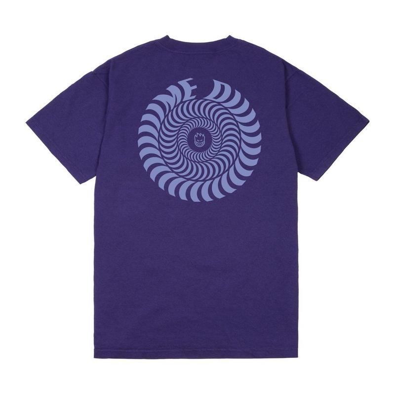 DIME × SPITFIRE SWIRL TEE - Purple