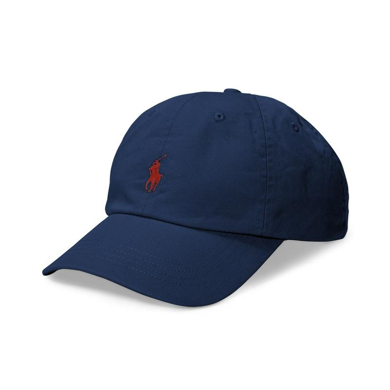 POLO RALPH LAUREN CLASSIC SPORTS CAP - NVY  / RED