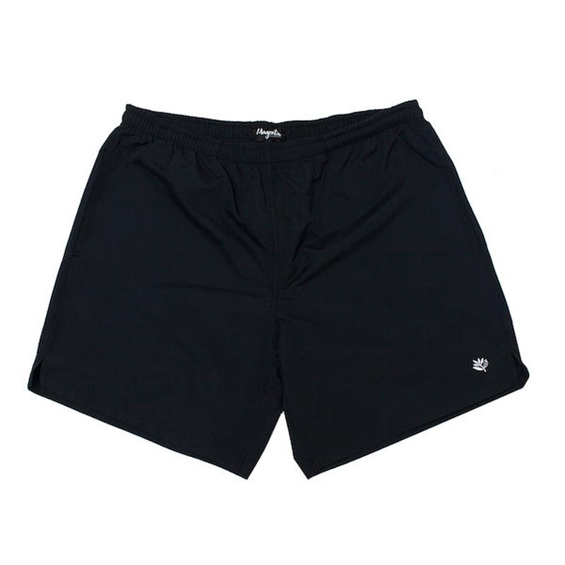 MAGENTA SKATEBOARDS NYLON SHORTS - BLACK