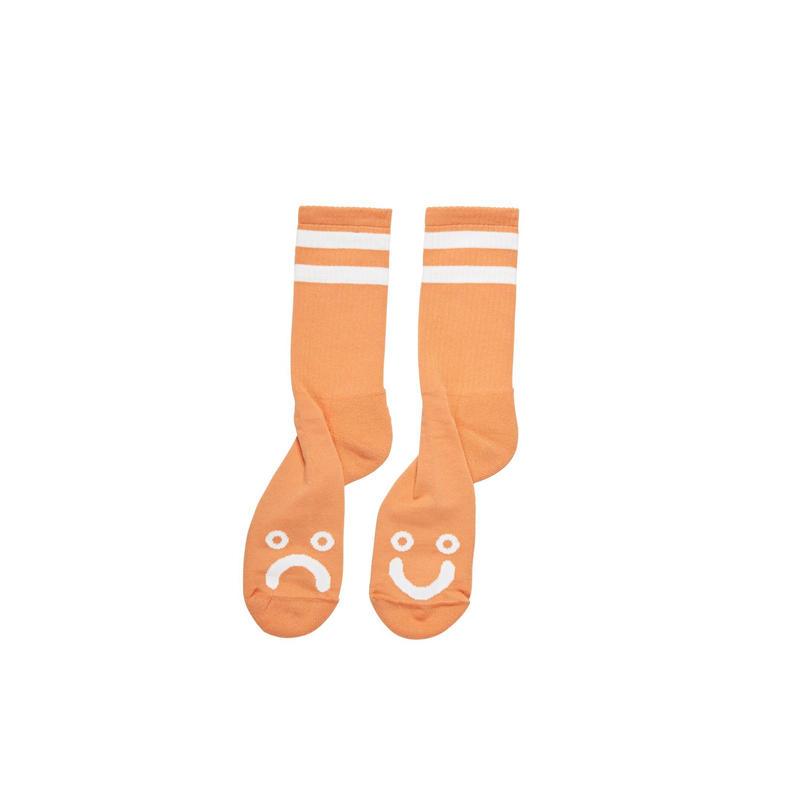 POLAR SKATE CO HAPPY SAD SOCKS - Light Orange
