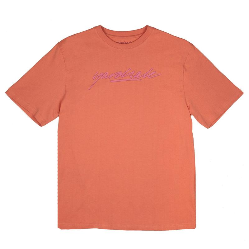 YARDSALE SCRIPT T-SHIRT - Peach