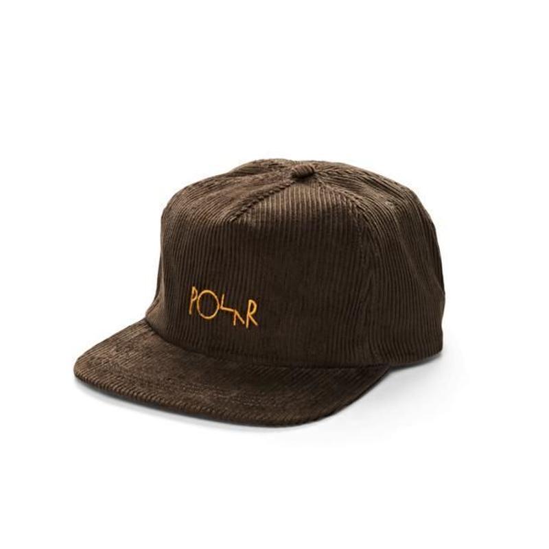 POLAR SKATE CO CORD 5-PANEL CAP Brown