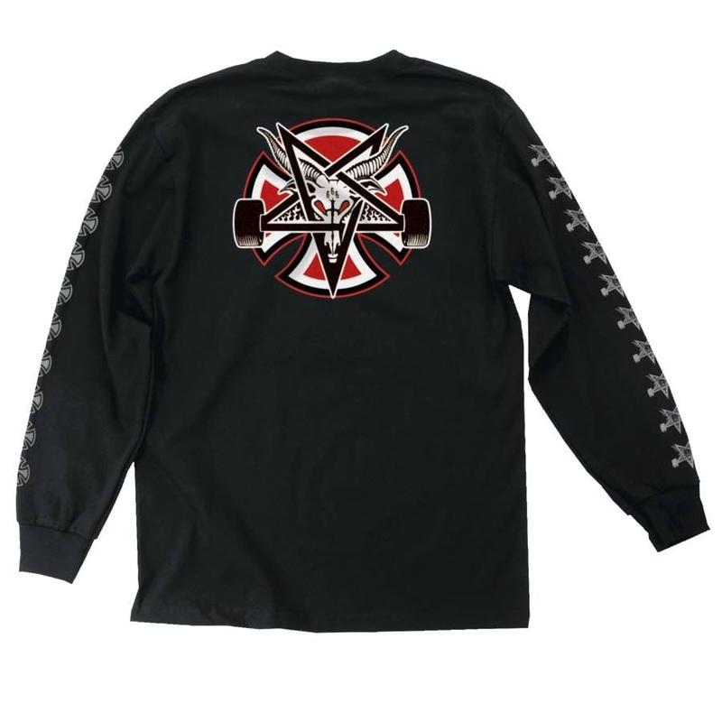 Independent Trucks x Thrasher Pentagram Cross Long Sleeve - Black