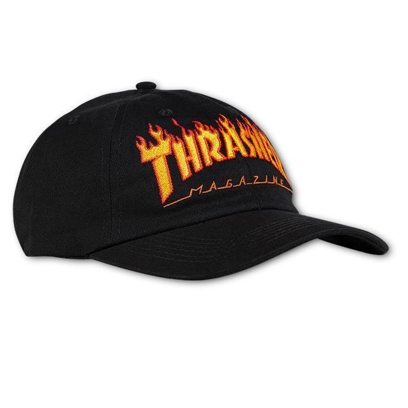 THRASHER Flame Old Timer Hat - Black