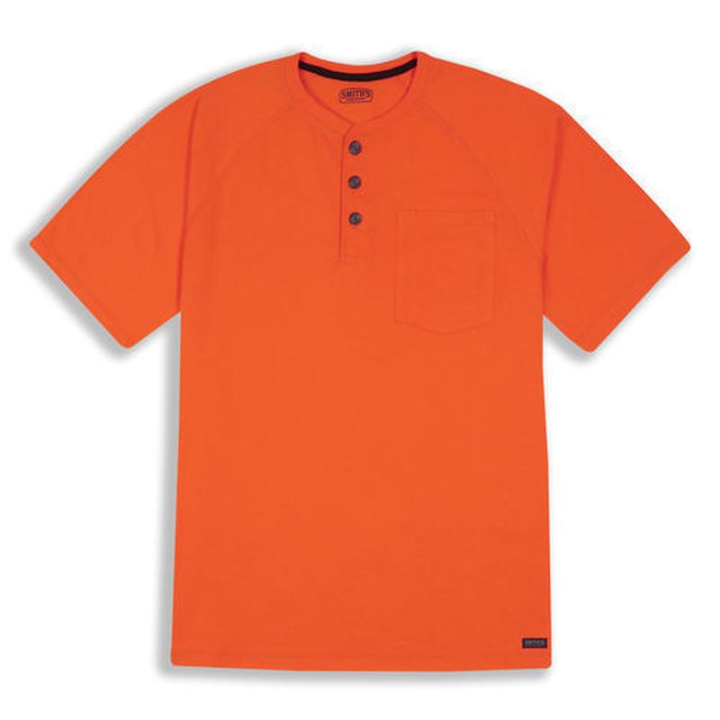 SMITHS S/S Henley T-Shirt - Orange