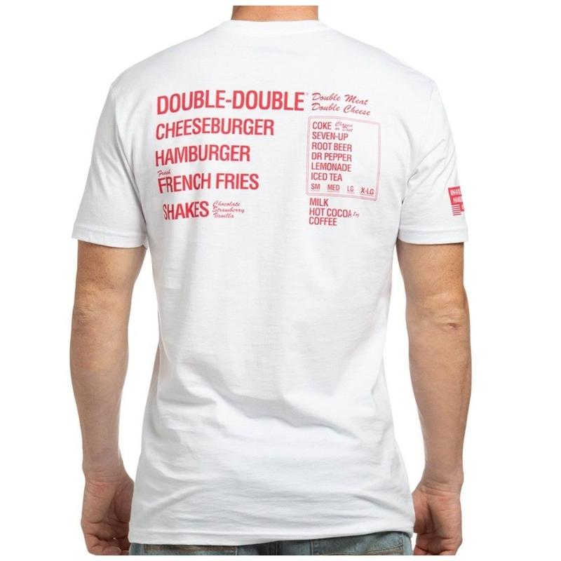 IN-N-OUT  MENU TEE -White/Red