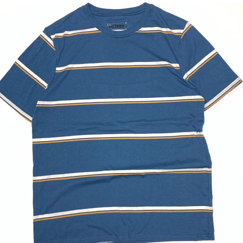 Striped Tee-Deep Blue