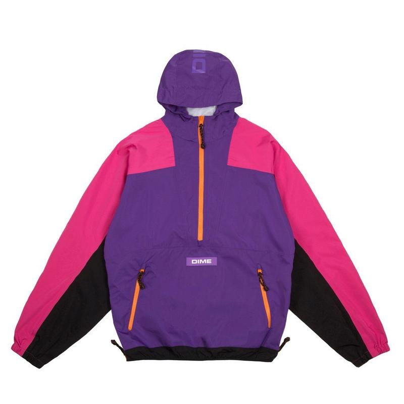 DIME PULLOVER HOODED SHELL - PURPLE