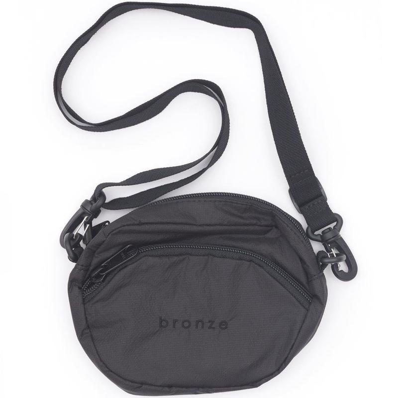 BRONZE56K RIPSTOP SATCHEL BAG - BLACK