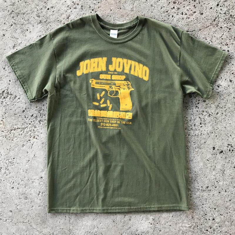 JOHN JOVINO GUN SHOP TEE OLIVE/YELLOW