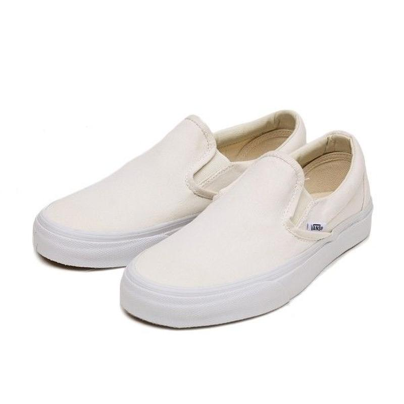 VANS SLIP ON - WHITE