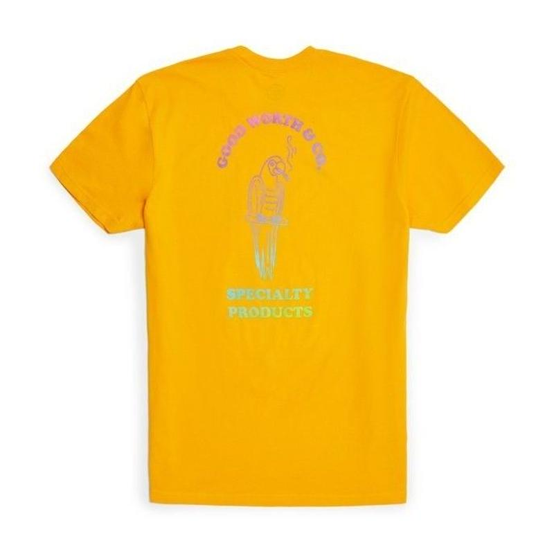 GOOD WORTH & CO Smoking Parrot Tee - Gold