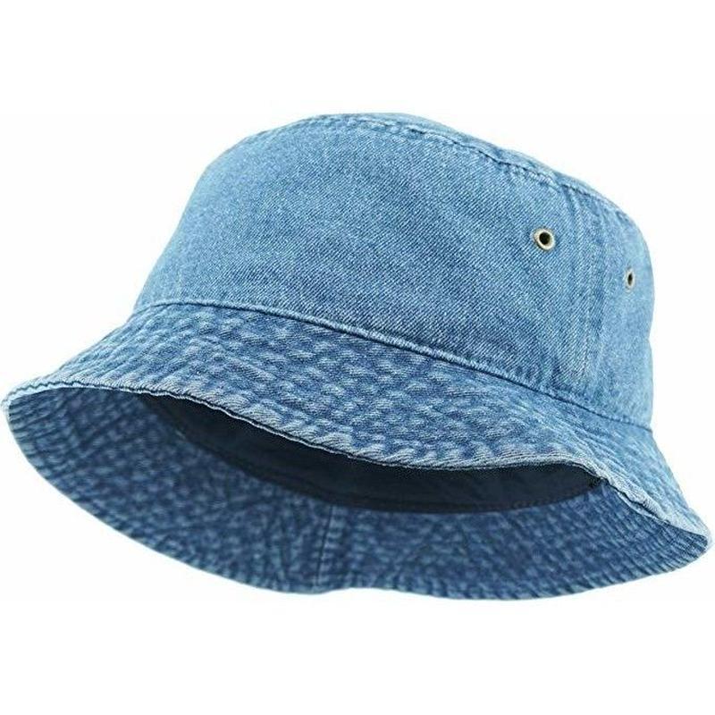 KB ETHOS Solid Bucket Hat - Medium Denim