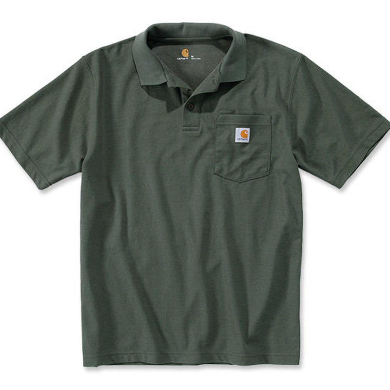 CARHARTT  POCKET POLO - MOSS GREEN