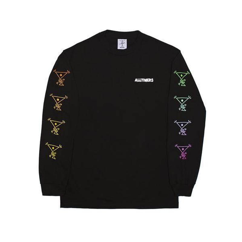 ALLTIMERS ACTION LONGSLEEVE TEE BLACK