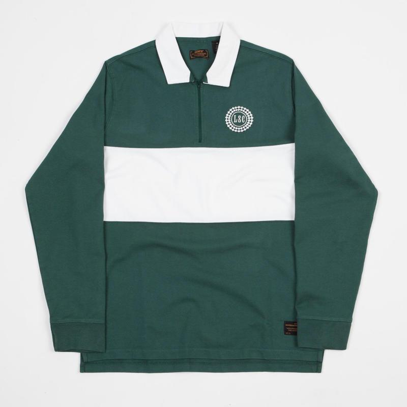 Levi's Skate Long Sleeve Rugby Shirt - Trekking Green