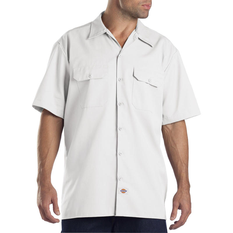 DICKIES Short Sleeve Work Shirt - White