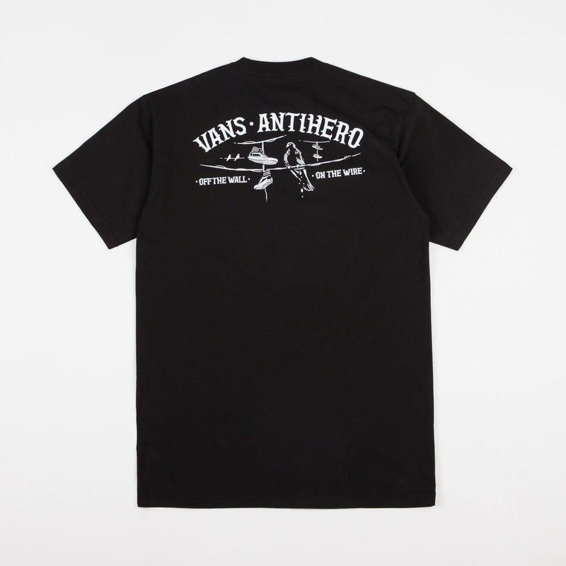 VANS x ANTI HERO ON THE WIRE TEE - BLACK