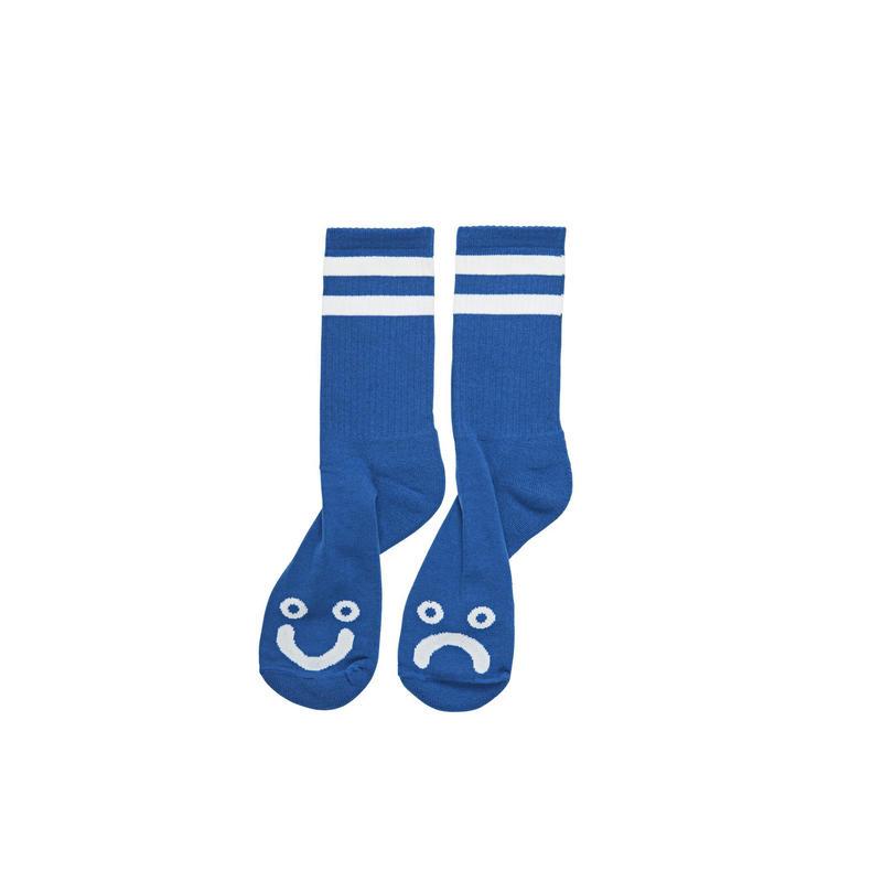 POLAR SKATE CO HAPPY SAD SOCKS - Blue
