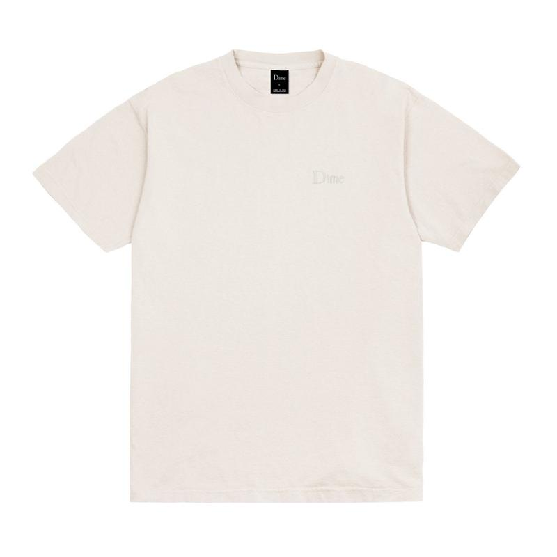 DIME CLASSIC EMBROIDERED T-SHIRT - Light Gray
