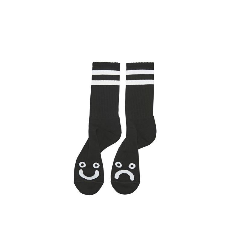 POLAR SKATE CO HAPPY SAD SOCKS - Black