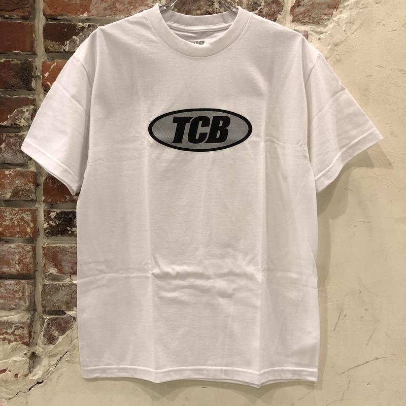 Tall Can Boys Metallic Over Logo Tee - White