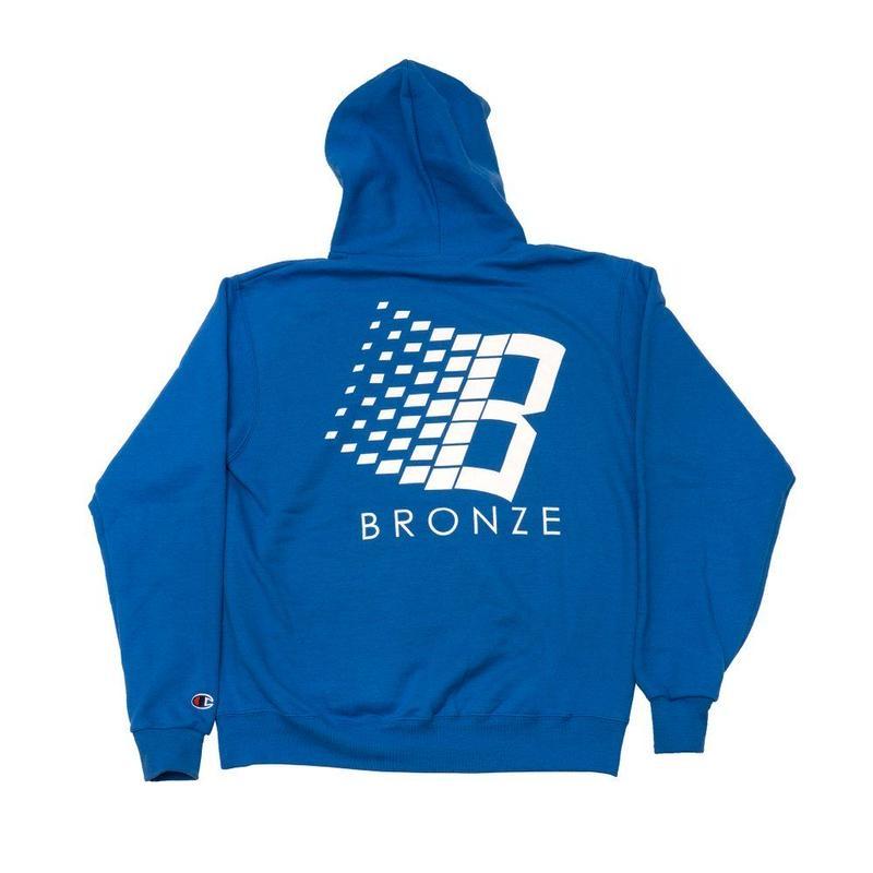 BRONZE56K  B HOODY - ROYAL BLUE/WHITE