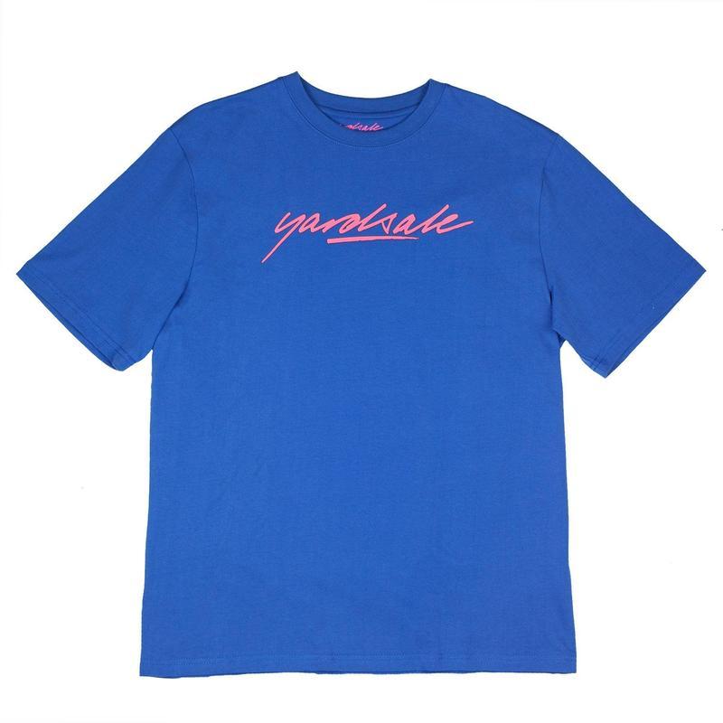 YARDSALE SCRIPT T-SHIRT - Blue