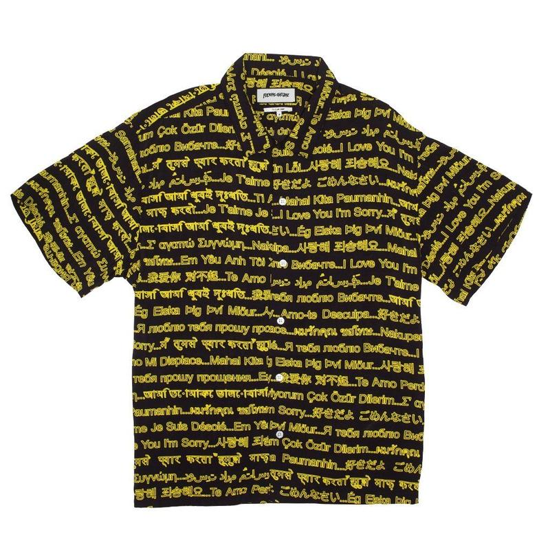 FUCKING AWESOME I LOVE YOU I'M SORRY CLUB SHIRT - Black/Yellow