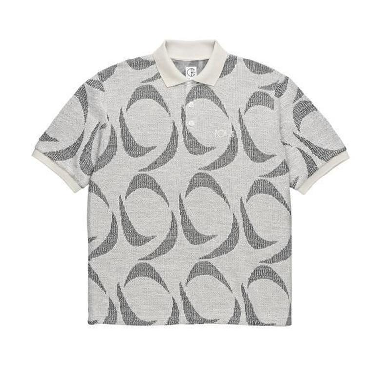POLAR SKATE CO PATTERNED POLO SHIRT Ivory / Black