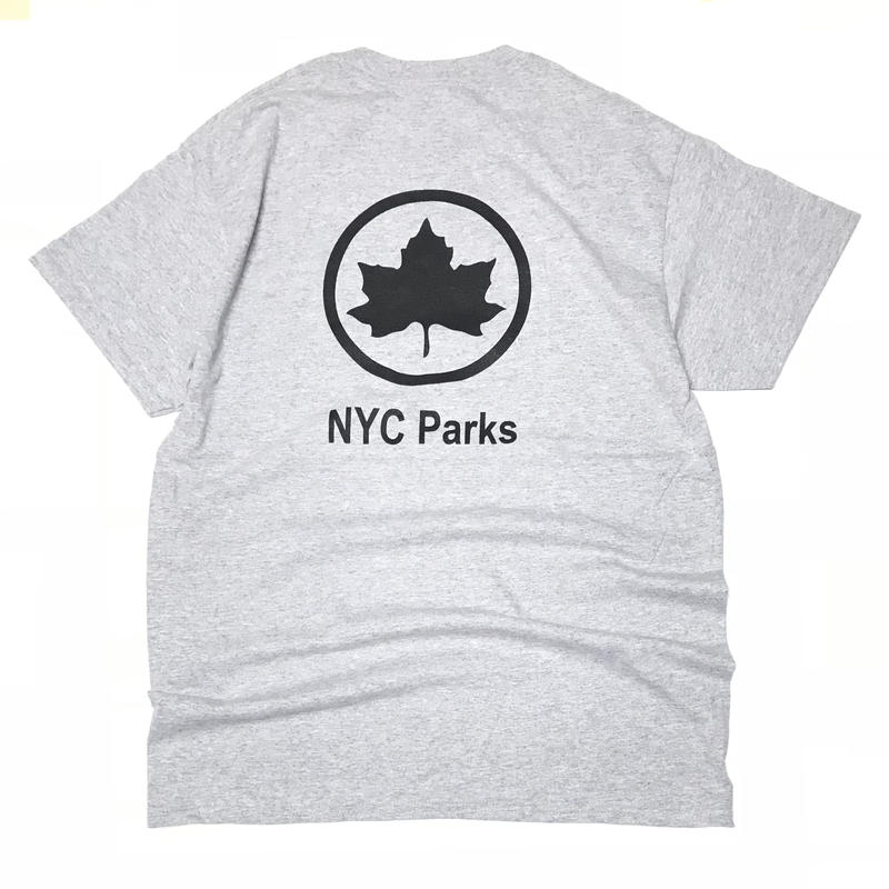 NYC PARKS STAFF OFFICIAL UNIFORM TEE - Grey