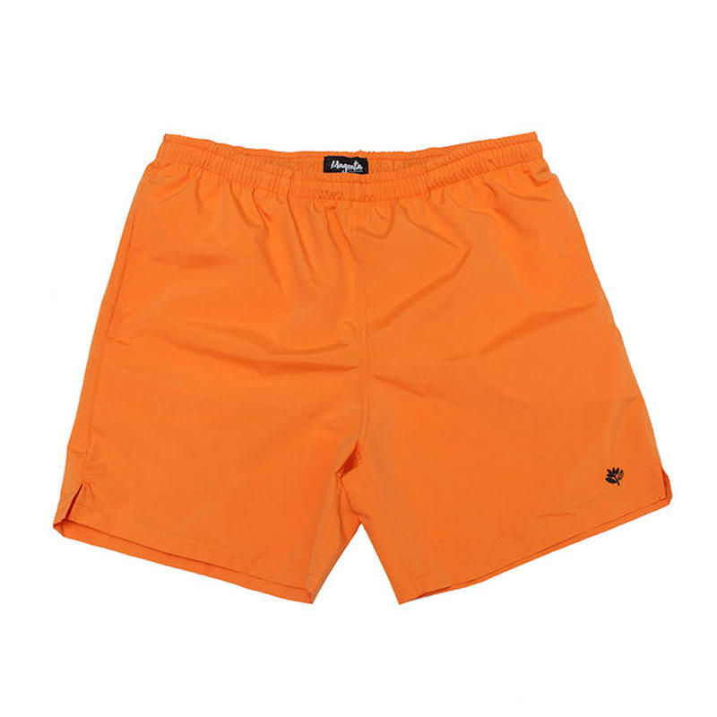 MAGENTA SKATEBOARDS NYLON SHORTS - ORANGE