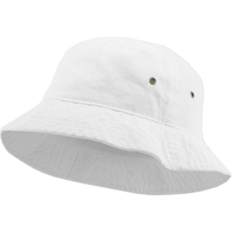 KB ETHOS Solid Bucket Hat - White