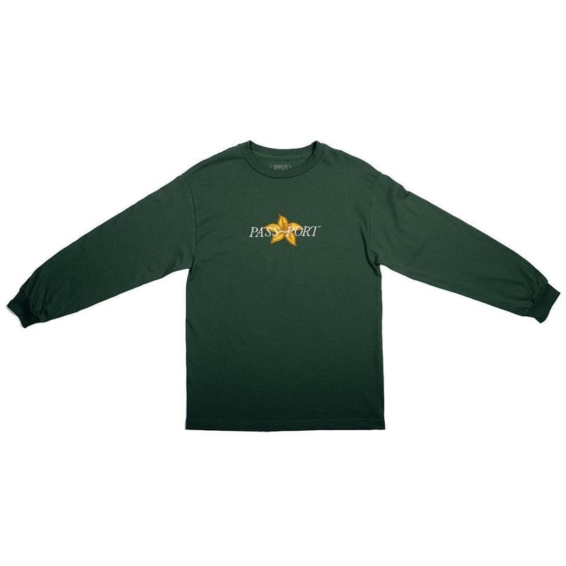 PASS~PORT DAFFODIL APPLIQUE L/S TEE - GREEN