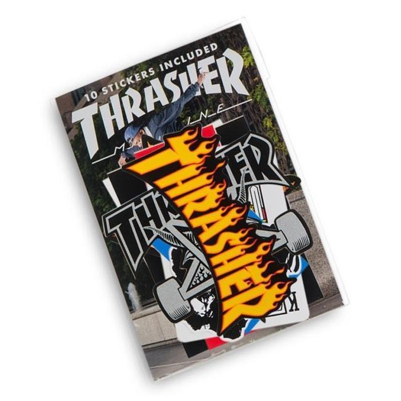 THRASHER 10 Sticker Pack