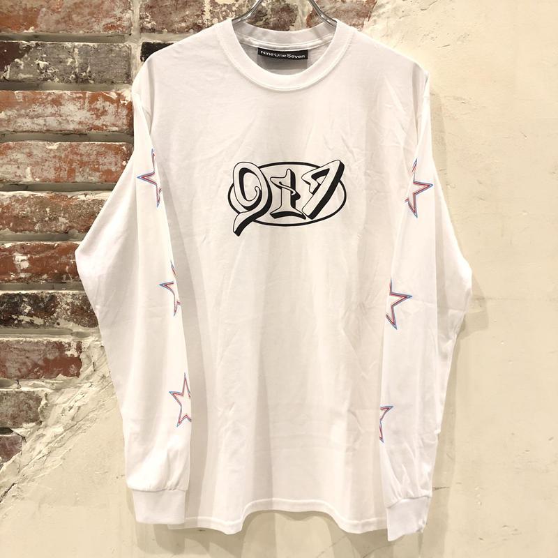 Call Me 917 Star Long Sleeve Tee - White
