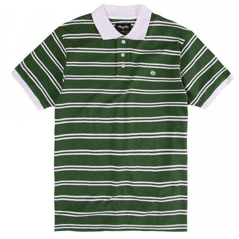 MAGENTA SKATEBOARDS POLO SHIRT - GREEN
