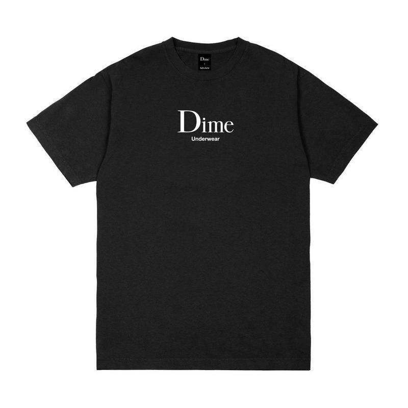 DIME UNDERWEAR T-SHIRT - BLACK