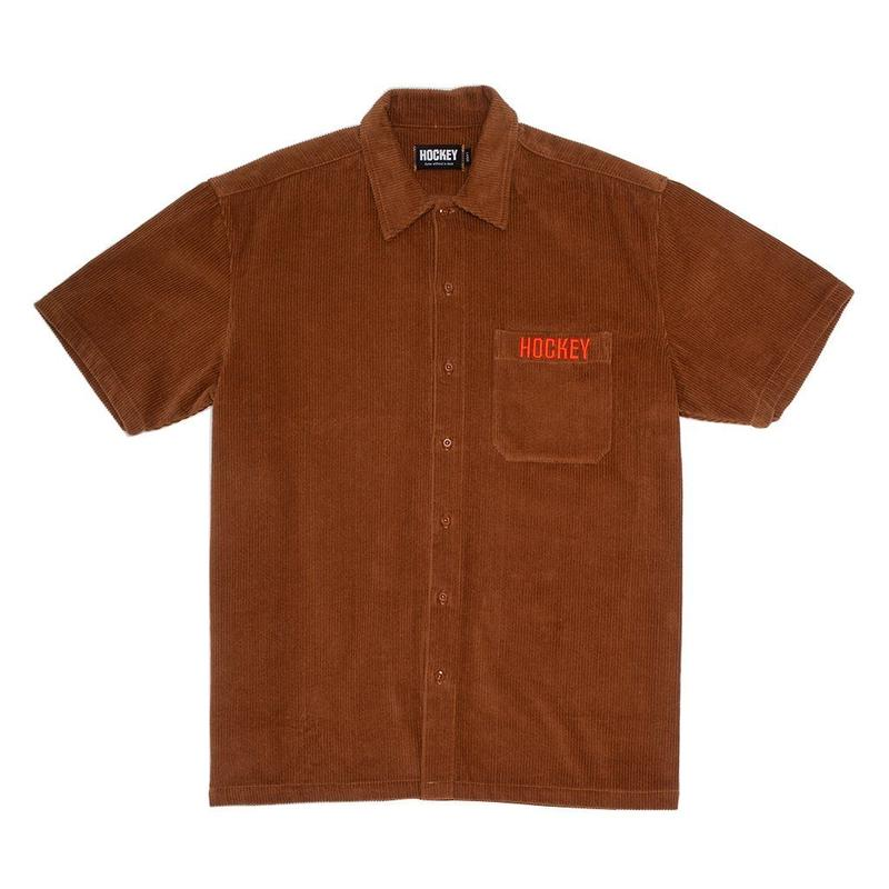HOCKEY CORDUROY WORK SHIRT - BROWN